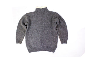 NORWOOL Wool Nordic Zip Neck Sweater, S - secondfirst
