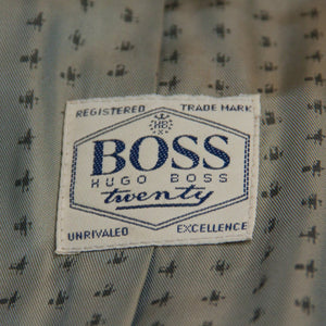 HUGO BOSS Vintage Blue Brushed Wool & Angora Blazer Jacket US 40R, EU 50 - secondfirst