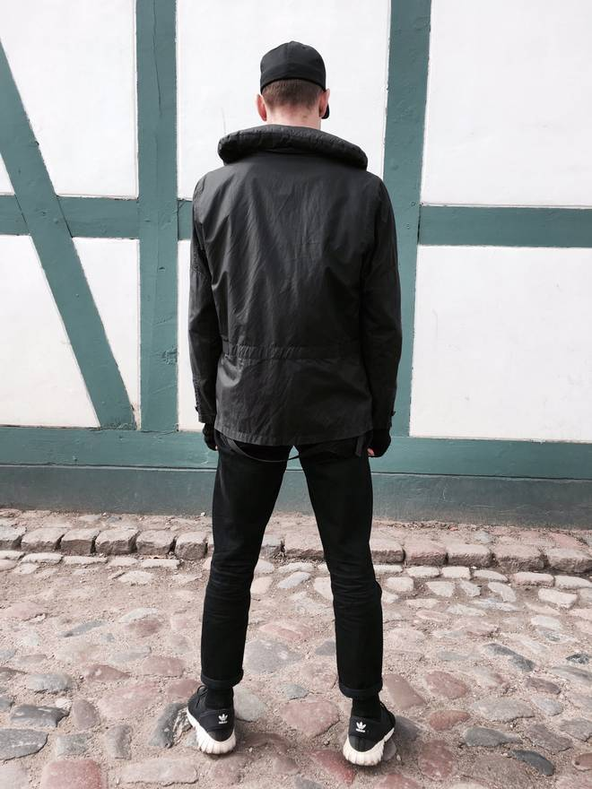 HELMUT LANG Black Lightweight Bondage Multi Pocket Parka Jacket, SZ L, EU 50 - secondfirst