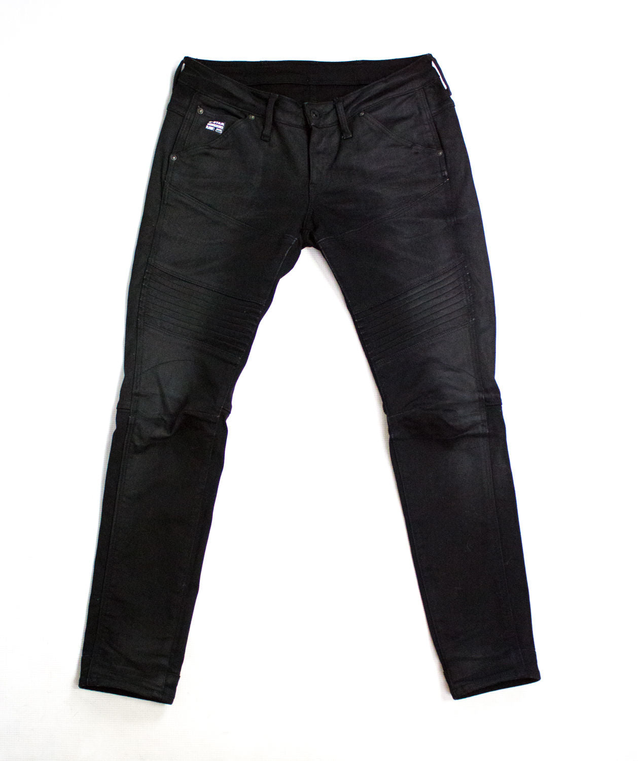 G-STAR SLIM TAPERED SKINNY BLACK COATED JEANS, 27/30 - secondfirst