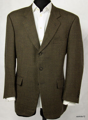 CORNELIANI Wool Brown Blazer Jacket, 42R, EU 52 - secondfirst
