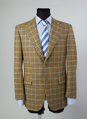 TOMBOLINI 2 Button Wool-Cashmere Checked Sport Coat Blazer US 40R - secondfirst