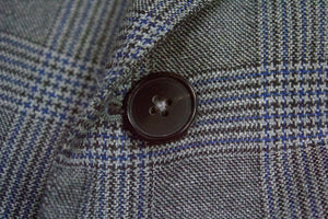 ERMENEGILDO ZEGNA Canvassed Wool Prince Of Wales Blazer US 54 - secondfirst