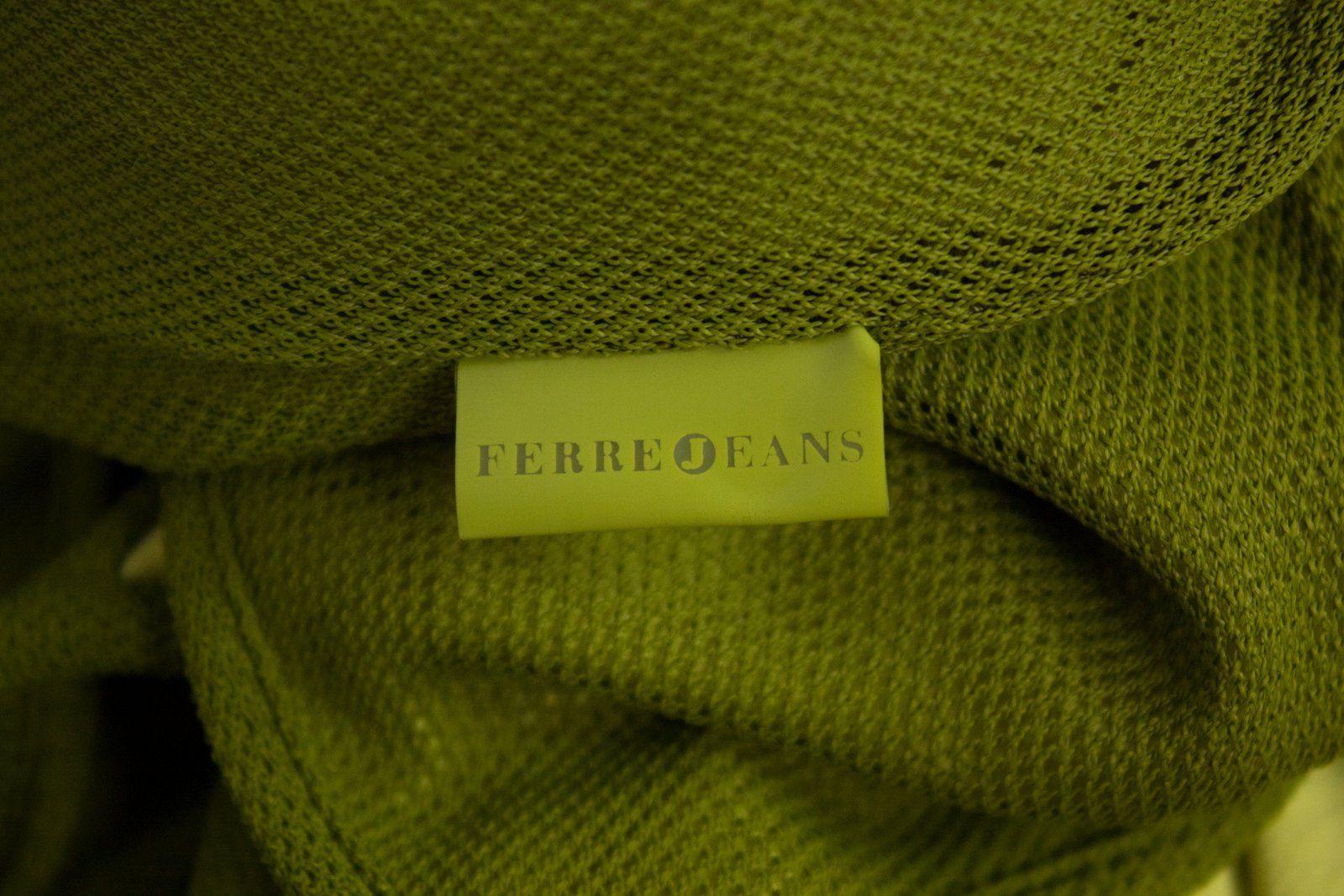GIANFRANCO FERRE  Forest Green Maxi Fishnet/Mesh dress SIZE SMALL - secondfirst
