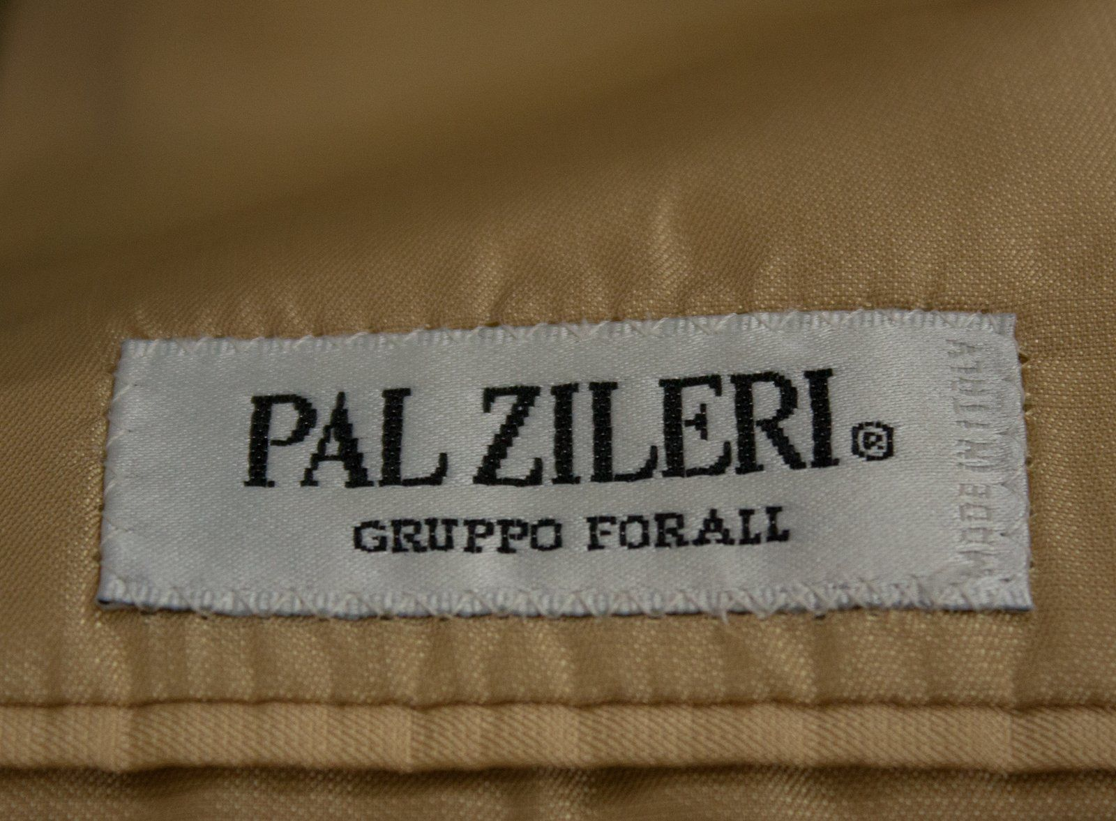 PAL ZILERI Khaki Green Silk Wool Blazer, EU 48R/US 38R - secondfirst