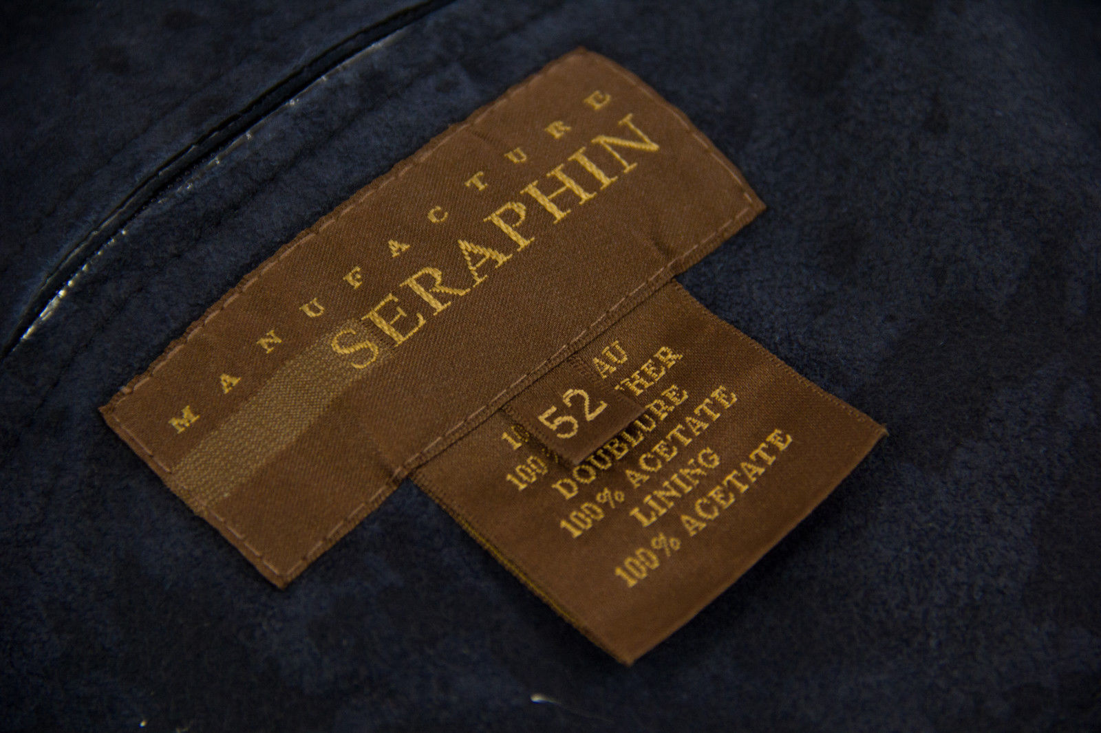 SERAPHIN Manufacture Super Soft Leather Blazer Jacket/Sport Coat EU 52/ USA 42 - secondfirst