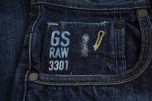 G-STAR Attacc Straight Strong Stiff OTISCO Denim Jeans, Made in Italy, SIZE 30/34 - secondfirst