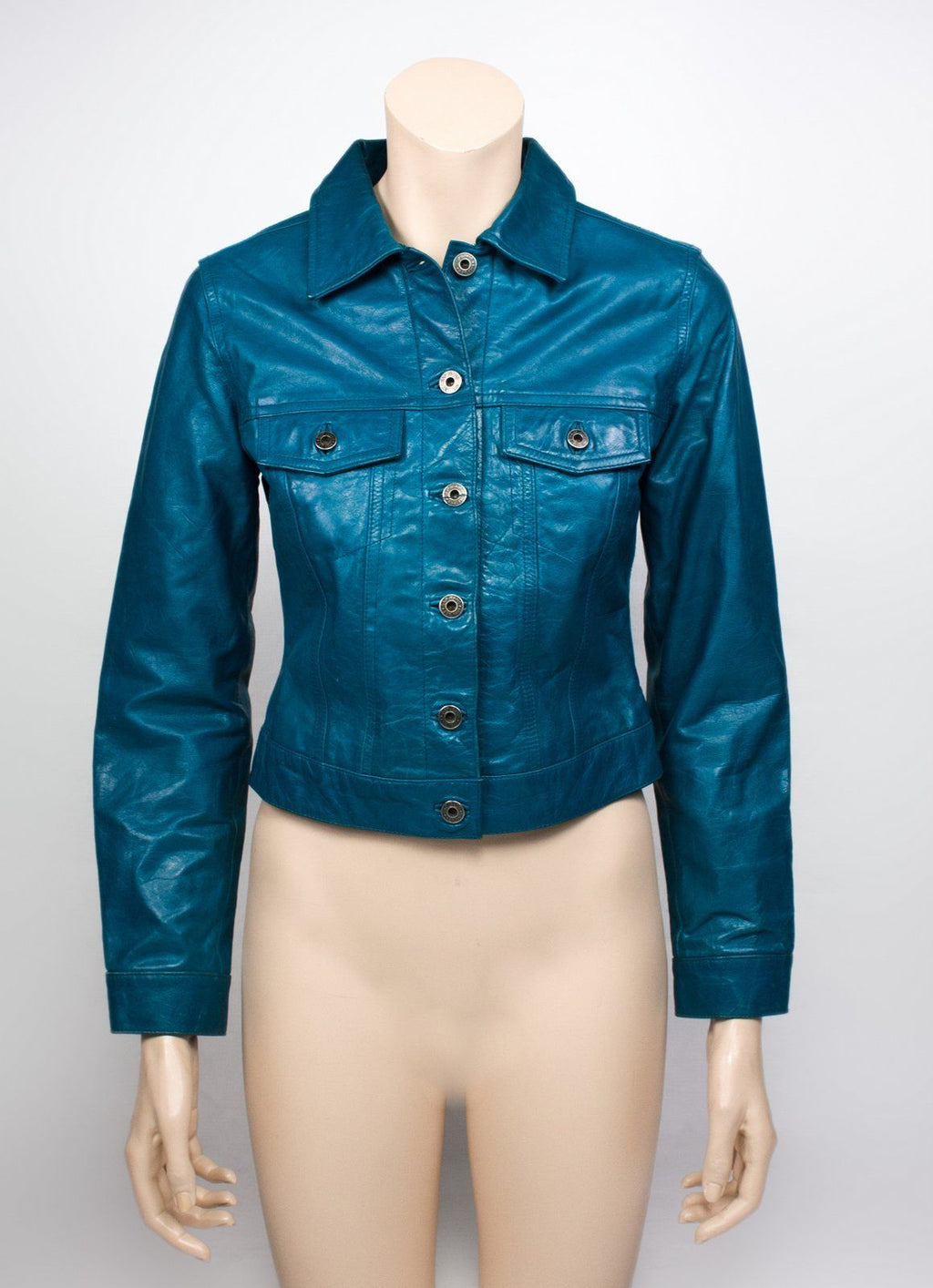 GAP Trucker Jean Style Leather Jacket, XS - secondfirst