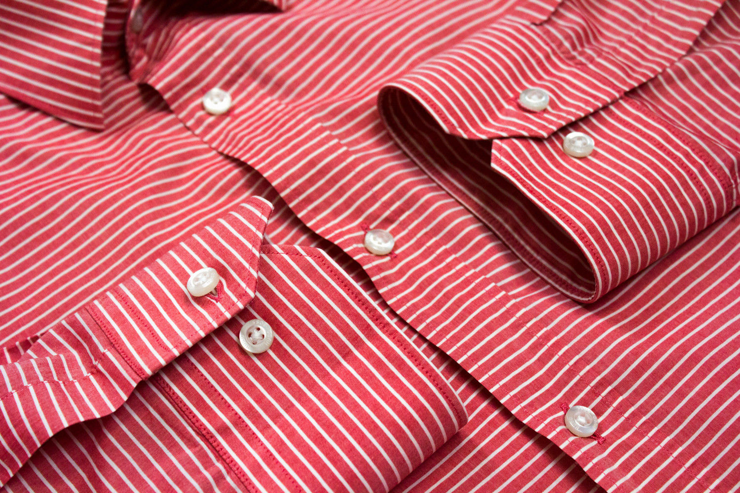 HUGO BOSS Red Label SLIM FIT Lightweight Cotton Striped Shirt SIZE L - secondfirst