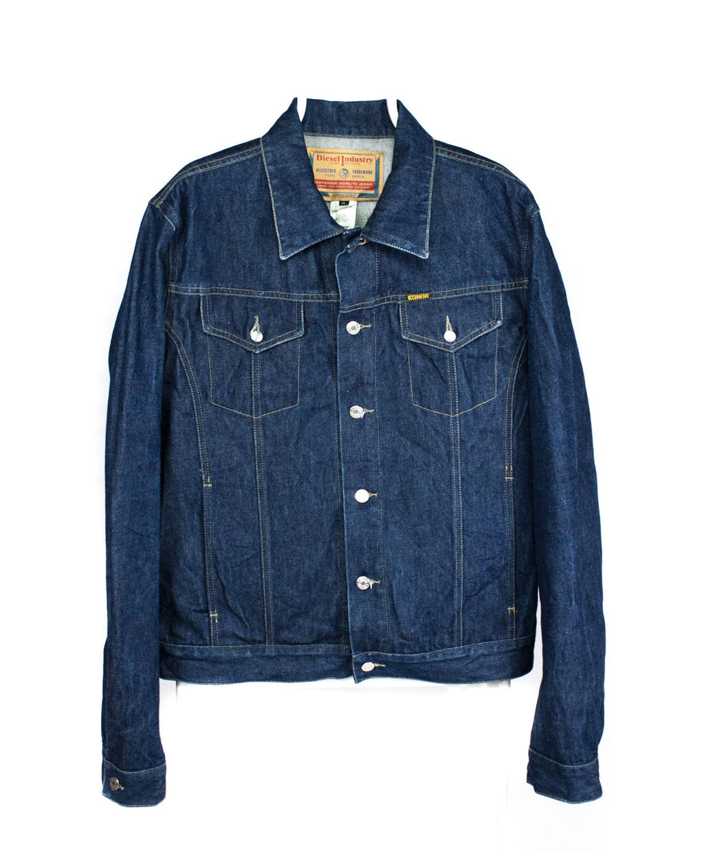 DIESEL men's DRAKE Dry Denim Blue Trucker Jacket, SIZE XL - secondfirst