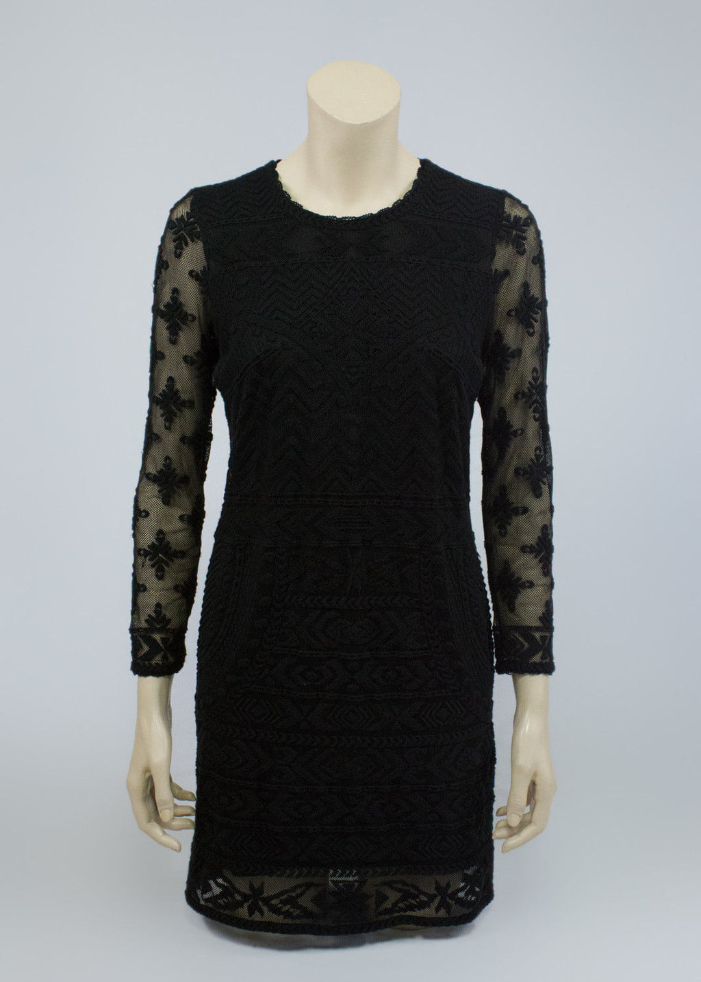 ISABEL MARANT x H&M Collaboration Black Lace Dress, SIZE M - secondfirst