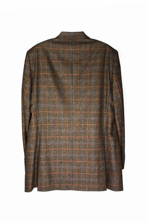 SARAR of LORO PIANA Merino Wool Windowpane Blazer US 44L, EU 106 - secondfirst