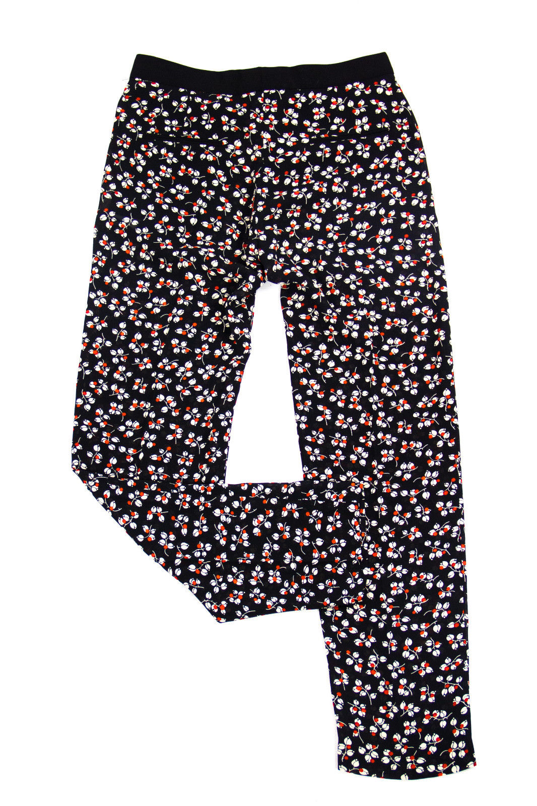 SANDRO Floral Print Lightweight Pants, SIZE 1, SMALL - secondfirst