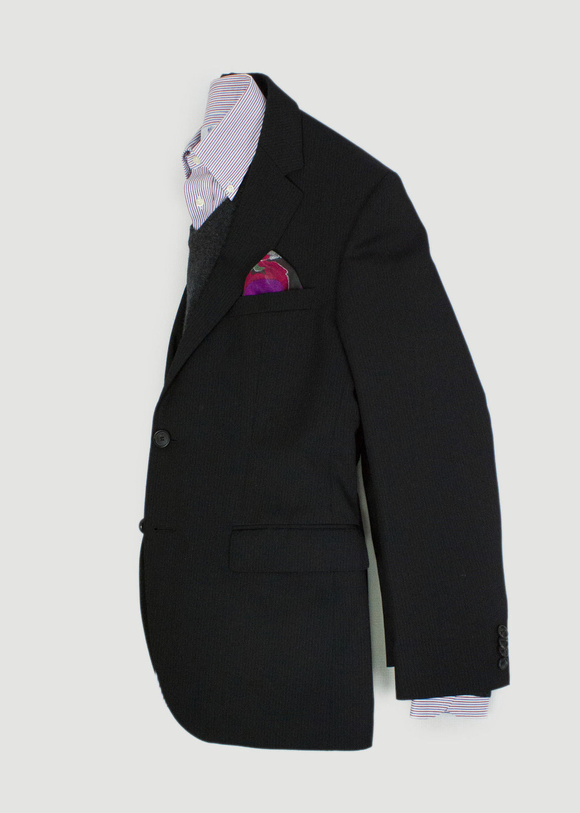 HUGO BOSS 100% Wool Black 2 Button Blazer Jacket USA 36R EU 46 - secondfirst