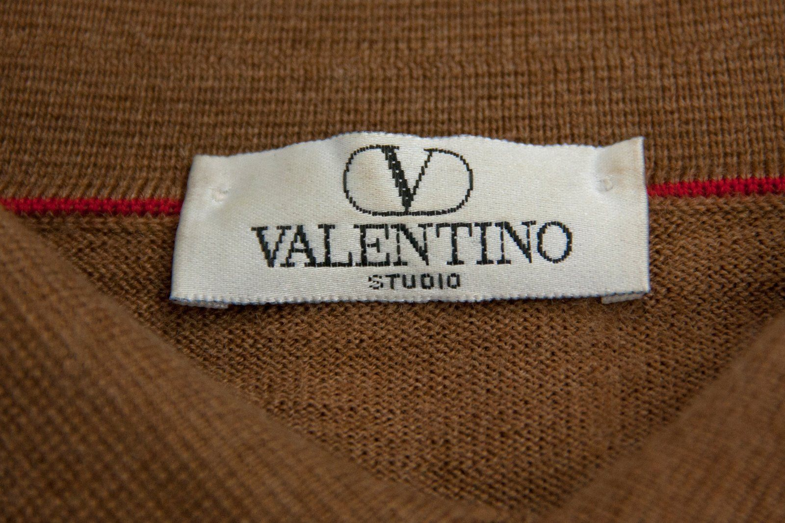 VALENTINO Wool Polo Neck Jumper, XL - secondfirst