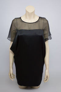MAJE 100% Silk Organza Black Dress Size 1  (US 4, EU 34, UK 6 ) - secondfirst