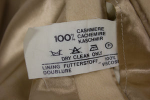 DAKS 100% Pure Cashmere Cream White Coat, US 40R - secondfirst
