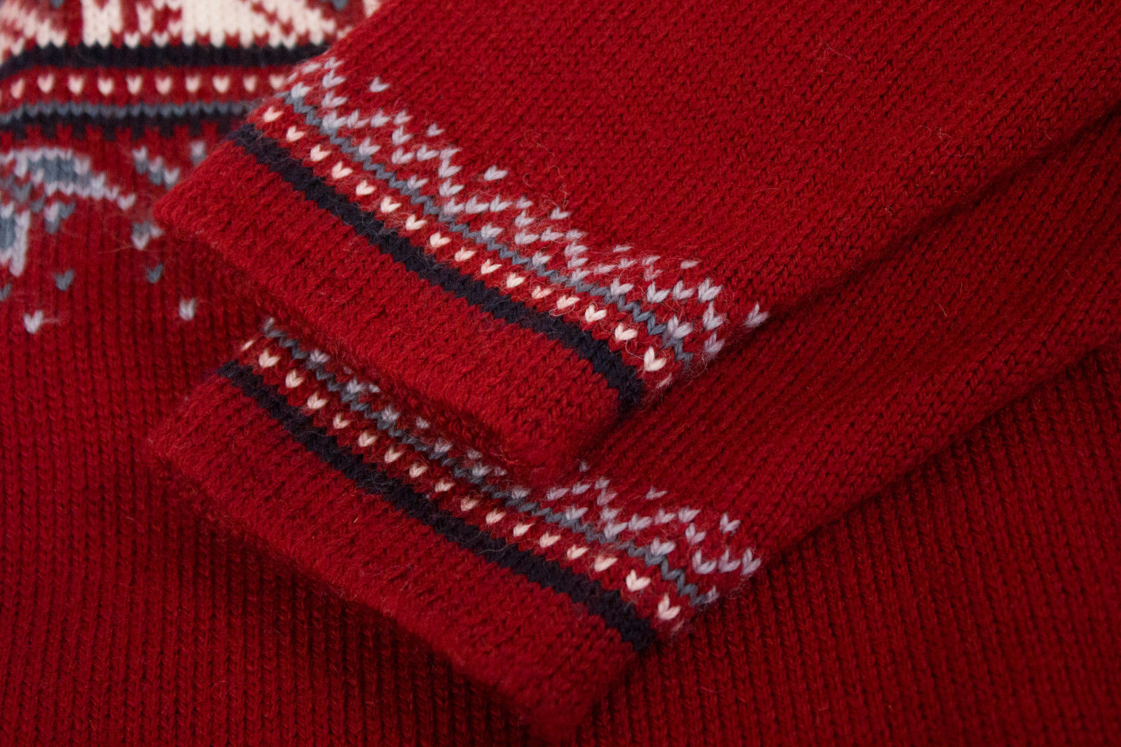 DALE OF NORWAY Kid's Zip Neck Warm Wool Sweater Jumper Pullover Size 10 - secondfirst
