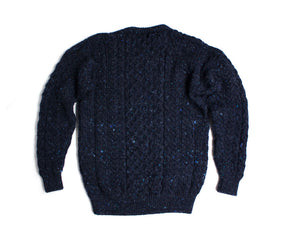 CARRAIG DONN men's Crew Neck Chunky Sweater Jumper, S - secondfirst