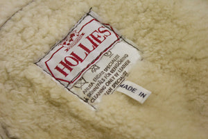 Vintage HOLLIES Brown Lambsfur Shearling Batwing Coat, SIZE M-L - secondfirst