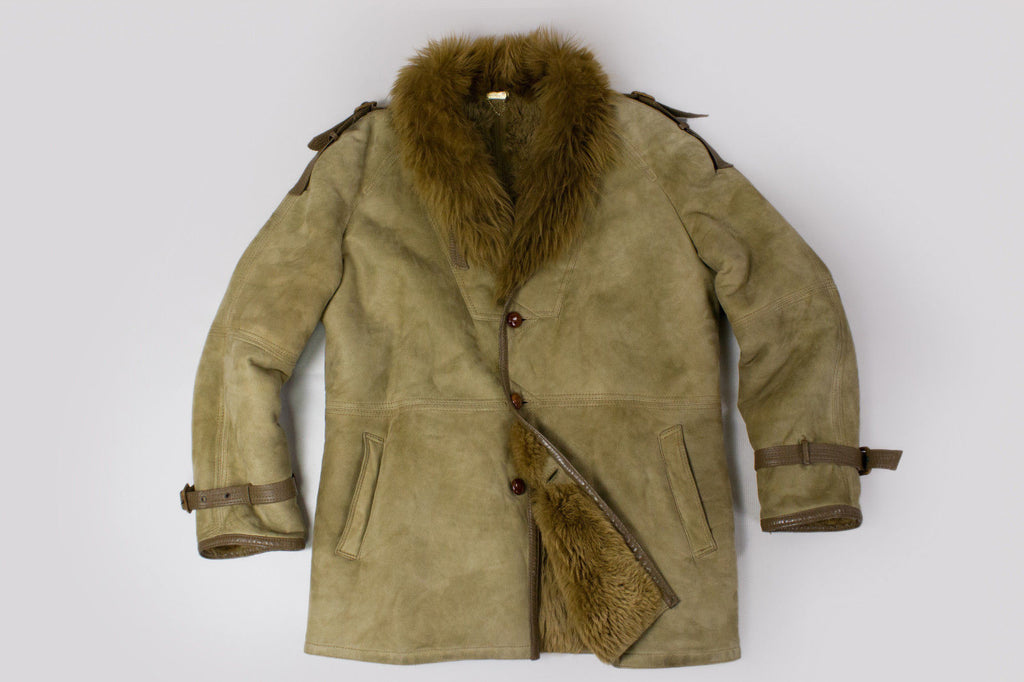 SIMON RAPHAEL Original Shearling Coat Jacket, SIZE EU 52, US 42 - secondfirst