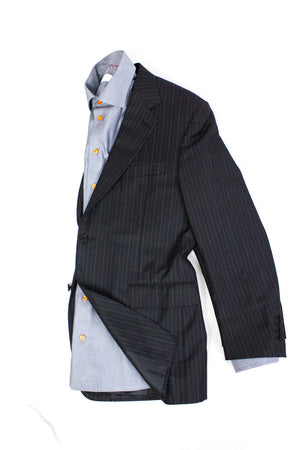 CANALI 100% wool Striped Gray Blazer Jacket SIZE US 40R, EU 50 - secondfirst