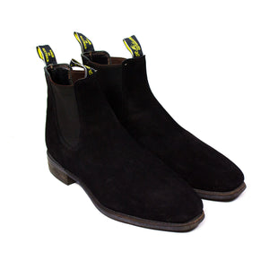 R.M. Williams  Black Suede Chelsea Boots SIZE 11 G (USA 12, EU 46, UK 11) - secondfirst