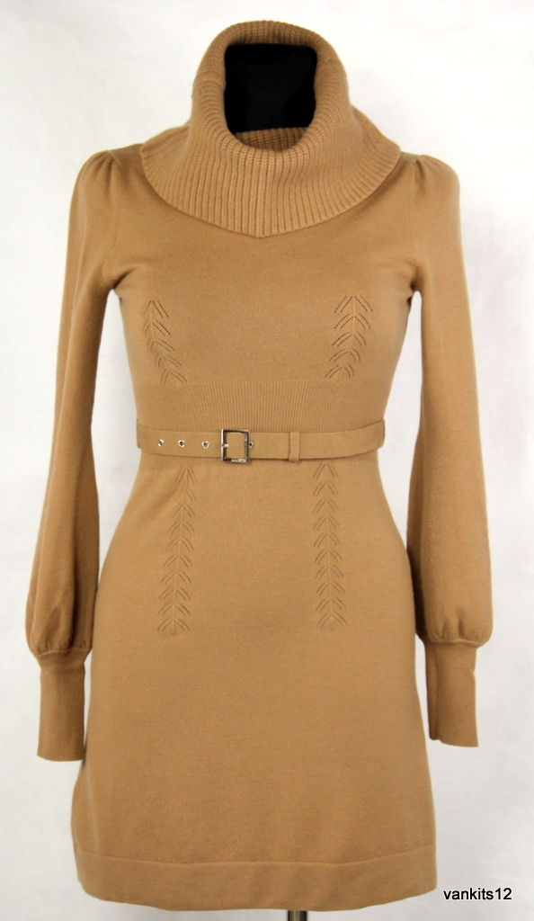 KAREN MILEN Wool Blend Long Sleeve Knit Dress SIZE 1, XS - secondfirst