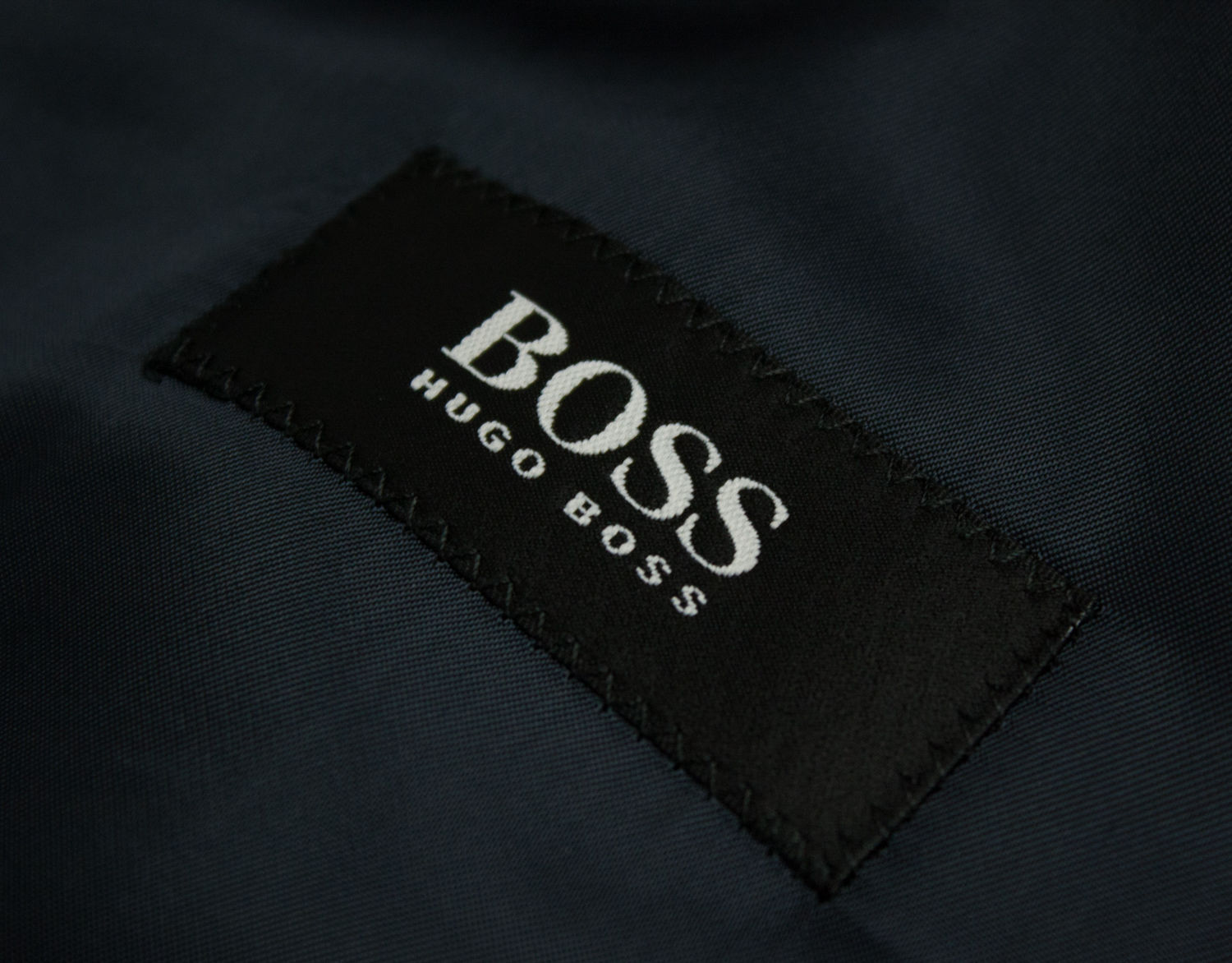 HUGO BOSS 100% Wool Double Breasted Blue Overcoat SIZE US 44R, EU 54 - secondfirst