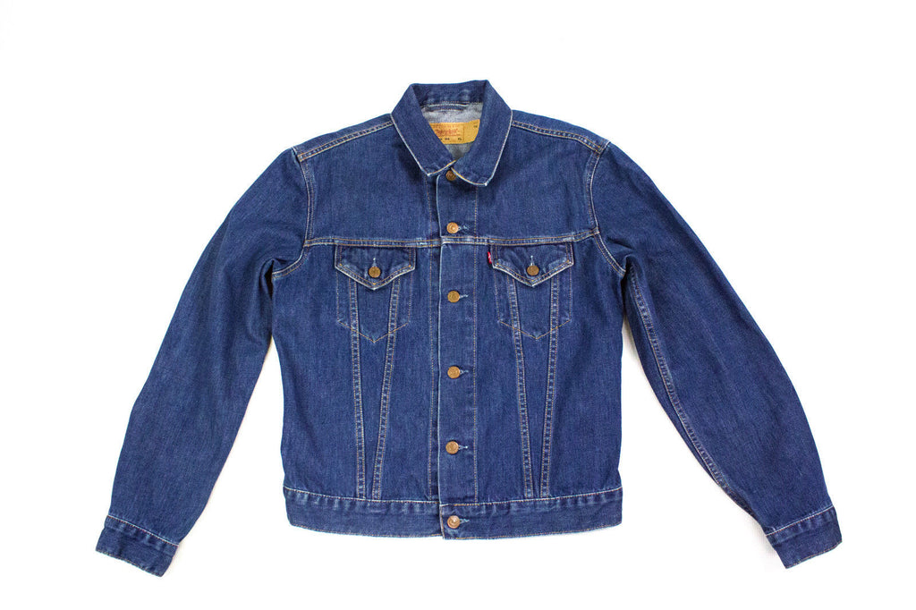 LEVI'S Men's Blue Denim Trucker Jacket, SIZE L - secondfirst