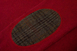 Paul & Friends Harris Tweed Crew Neck Wool Jumper, L - secondfirst