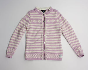 DALE OF NORWAY Women's Fair Isle Nordic 100% Wool Pink Cardigan/Sweater, XXS - secondfirst