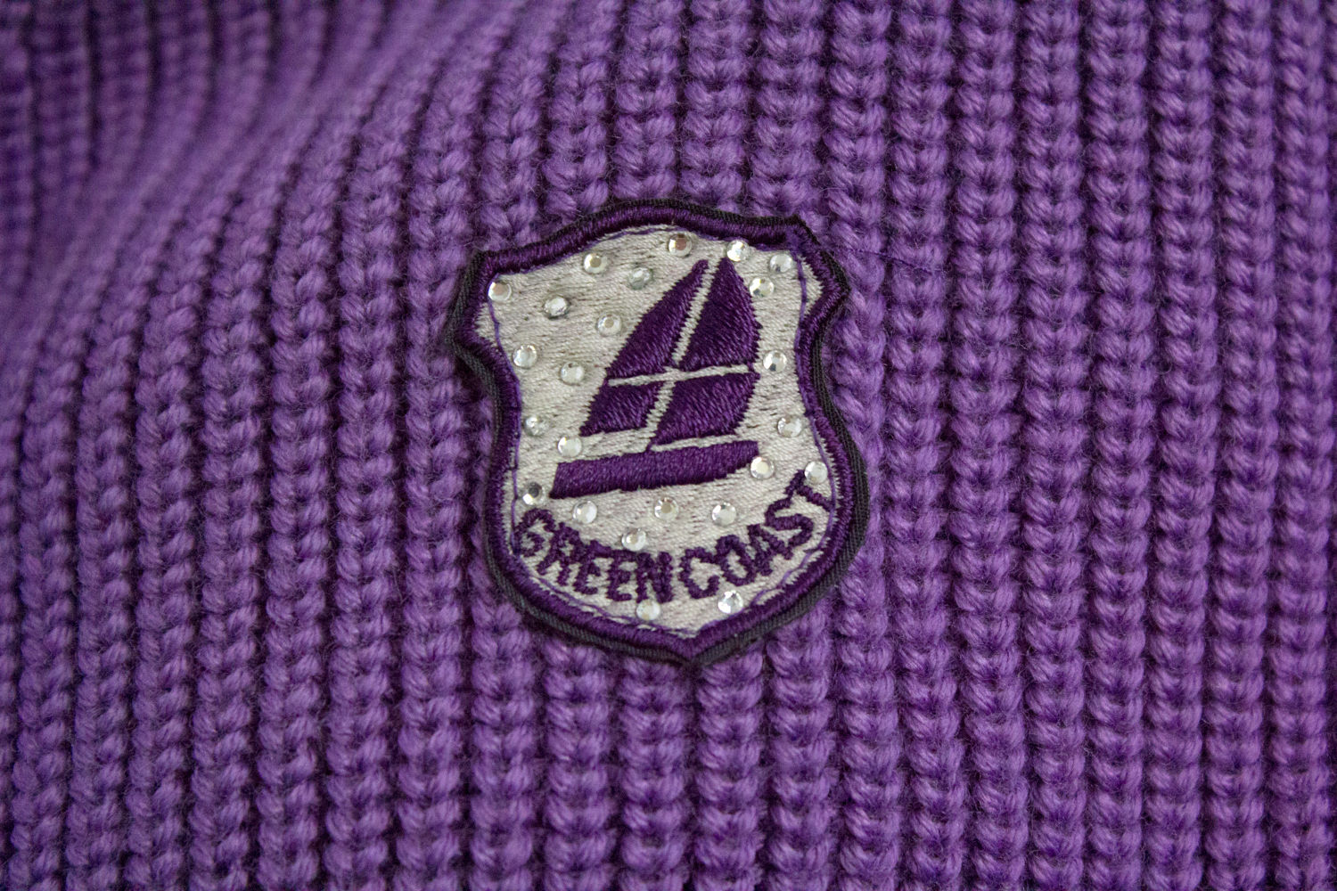 GREEN COAST Yachting Outfits Merino Wool Ultra Violet Cardigan, M - secondfirst