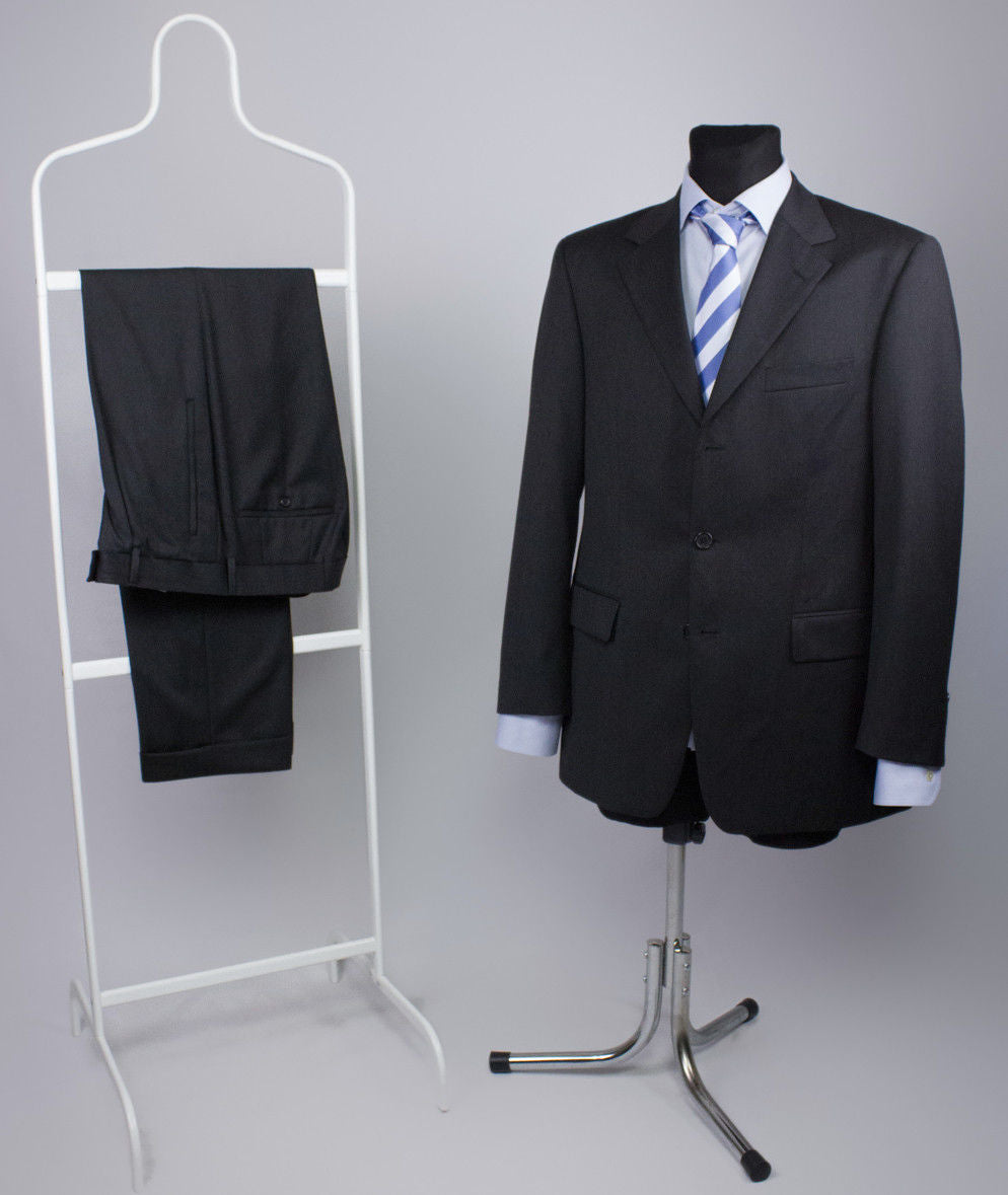 HUGO BOSS Da Vinci/Lucca 100% Wool Gray 2 Pieces Suit USA 38R - secondfirst