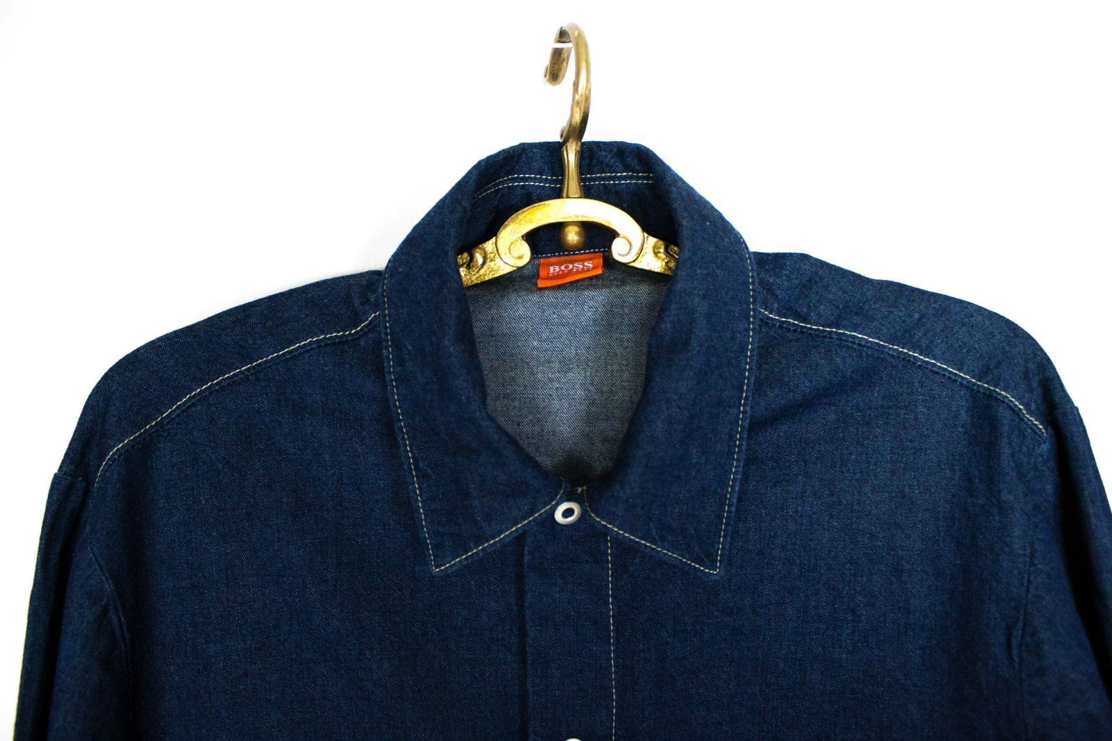 HUGO BOSS Orange Label men's blue denim shirt, SIZE S - secondfirst
