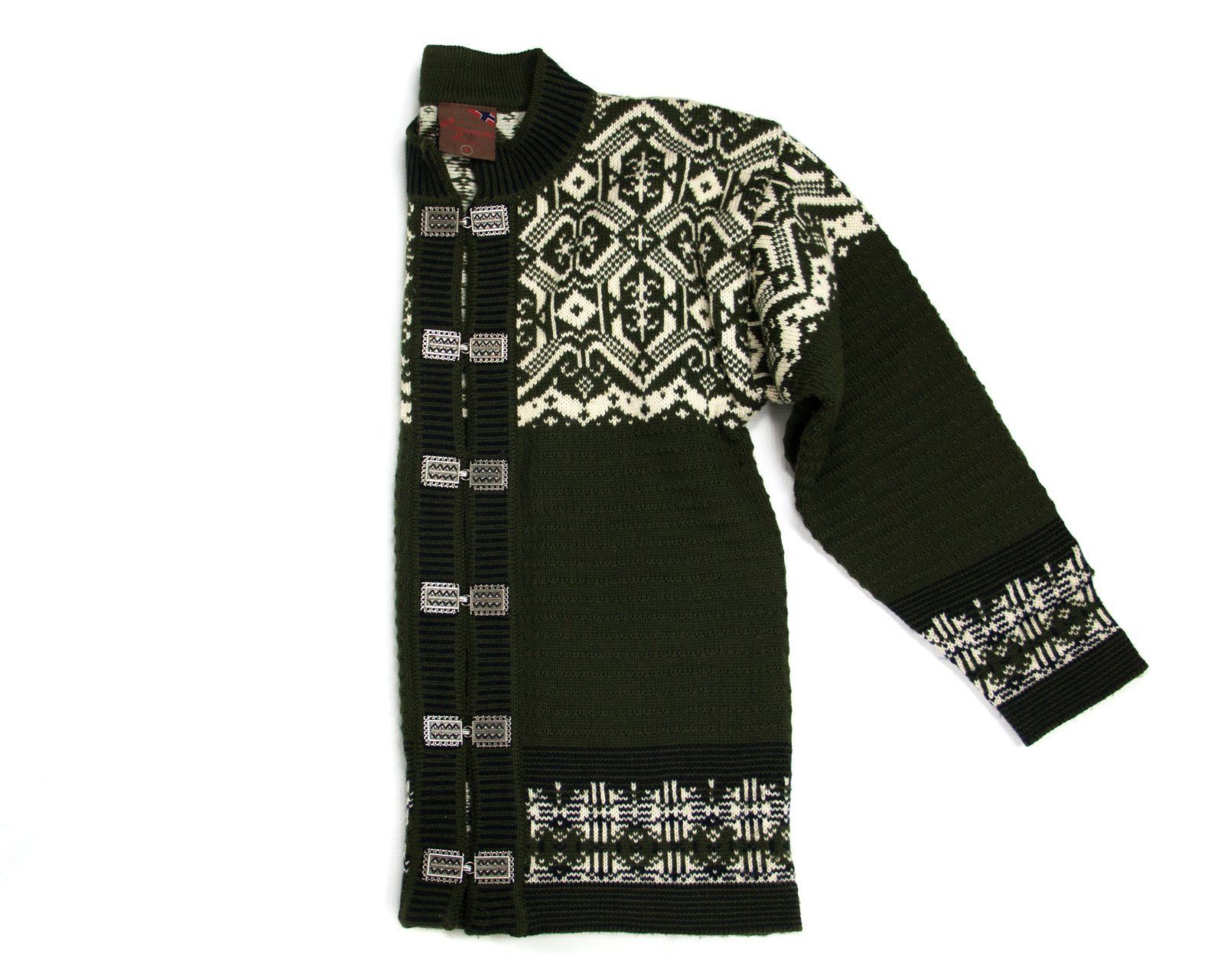 CHRISTIANIA NORDIC FAIR ISLE WOOL CARDIGAN SWEATER, M - secondfirst