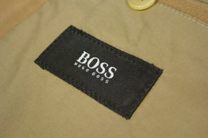 HUGO BOSS Cotton Camel Brown Velvet Blazer, EU 48, US 38R - secondfirst