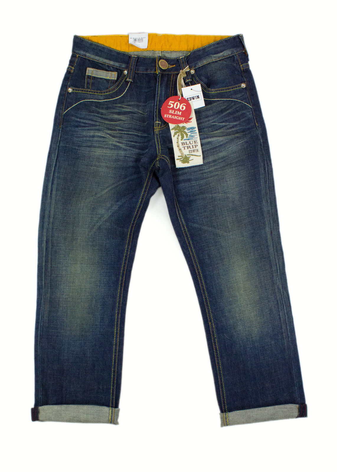 EDWIN Blue Trip 506 Slim Straight Men's Jeans SIZE W31/L26 - secondfirst