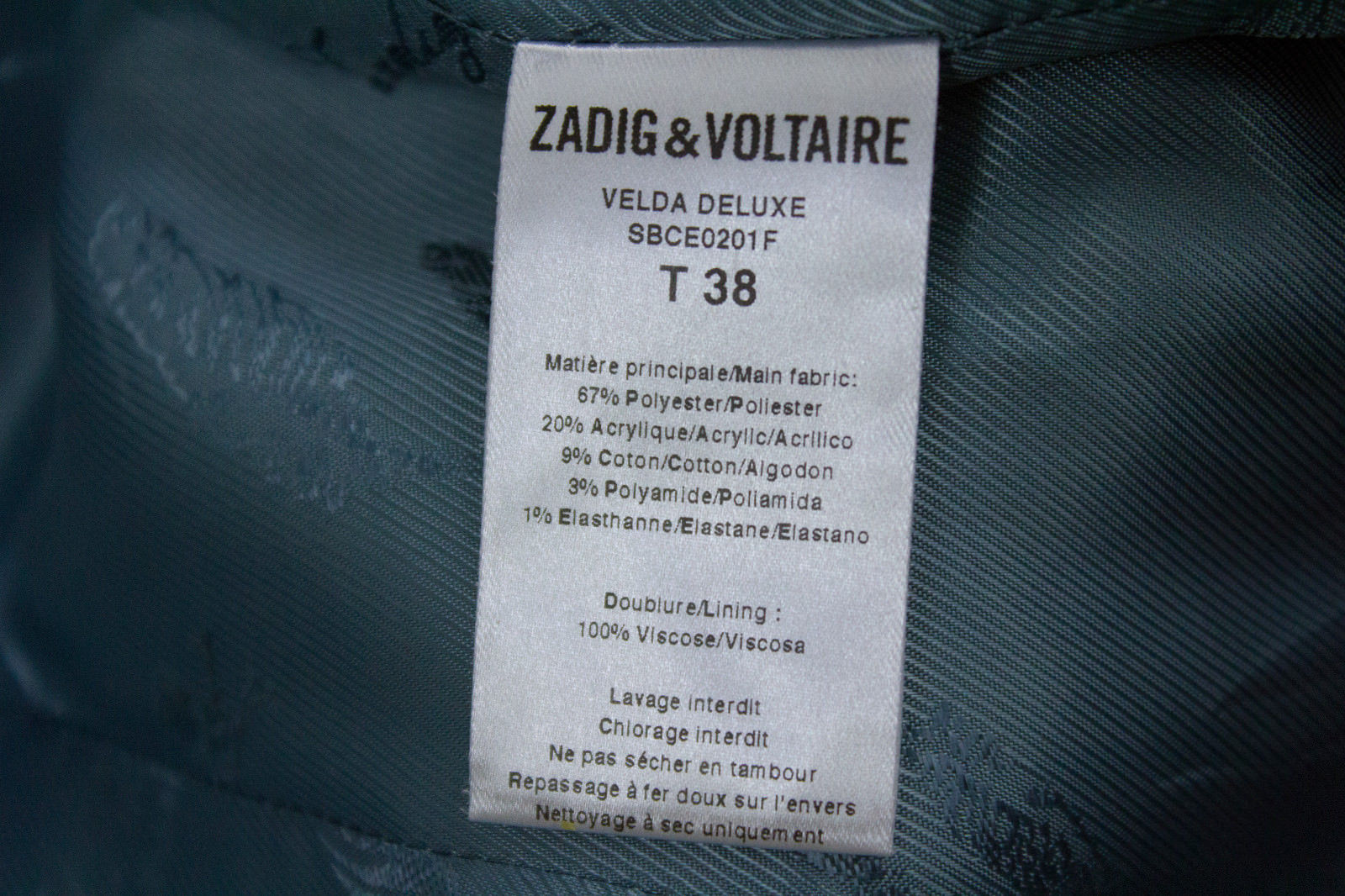 ZADIG & VOLTAIRE Animal Print Blazer SIZE USA 6 - secondfirst