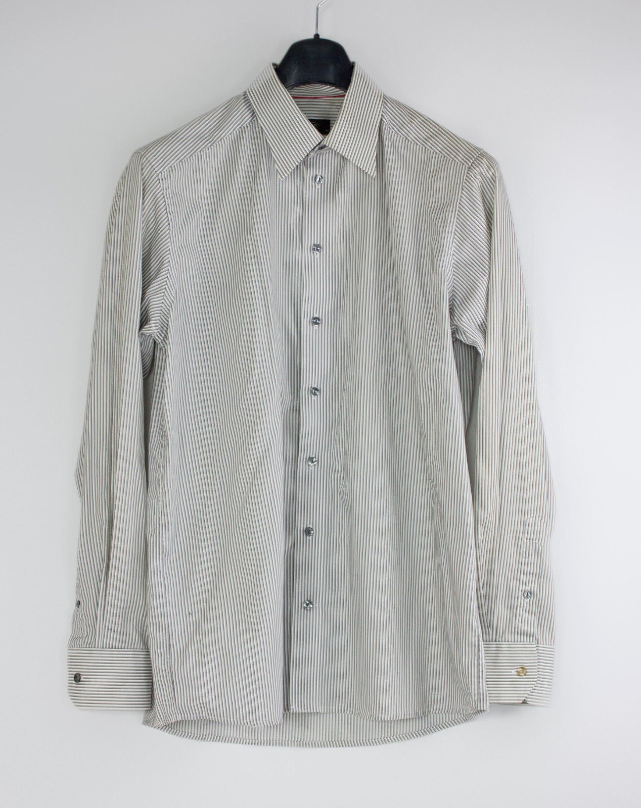 ETON  Striped Pointed Collar Shirt, 42 - 16 1/2 - secondfirst