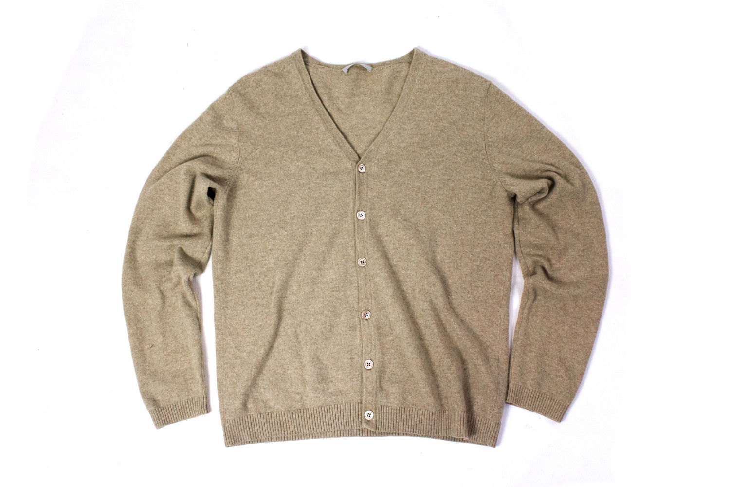 STRENESSE by Gabriele Strehle Light Brown Cashmere Cardigan, XL - secondfirst