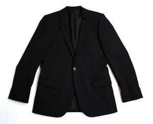 HUGO BOSS Red Label Stretch Wool Black Blazer Jacket, US 36R, EU46 - secondfirst