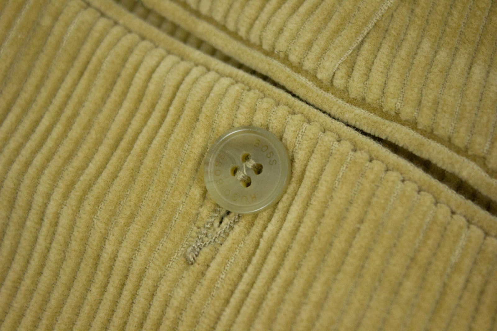 HUGO BOSS Light Brown Flat Front Pleated Corduroy Pants, US42, EU52 - secondfirst