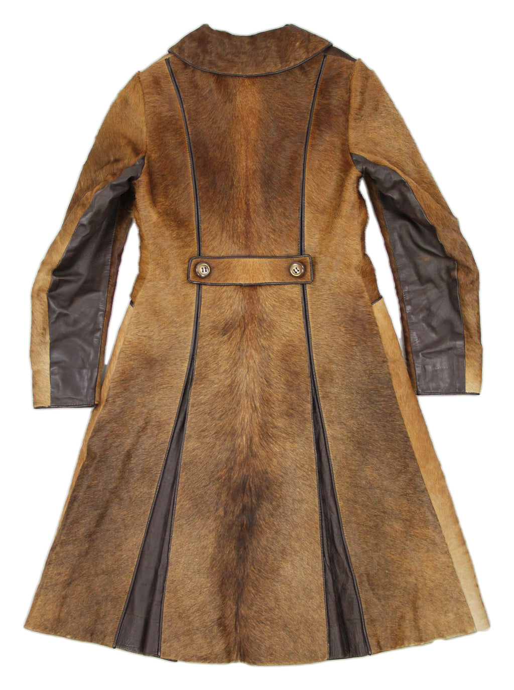 Vintage 70's Calfskin Tailored Fur Coat, SIZE XS