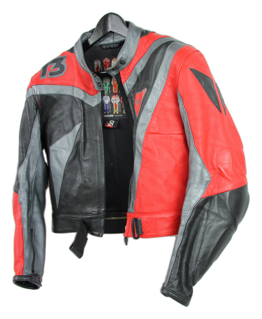 DAINESE T3 Women's Leather Motorcycle Biker Jacket, SIZE L