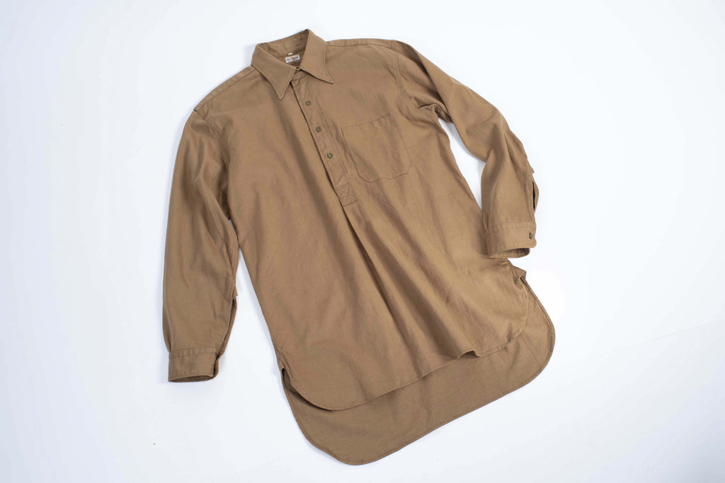 "Vintage 40's - 50's BDA ""Rigmel"" Shrunk Workwear Pull-over Shirt, L"