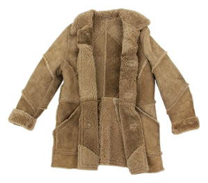 Stunning Men's Brown Shearling Coat, Size 40