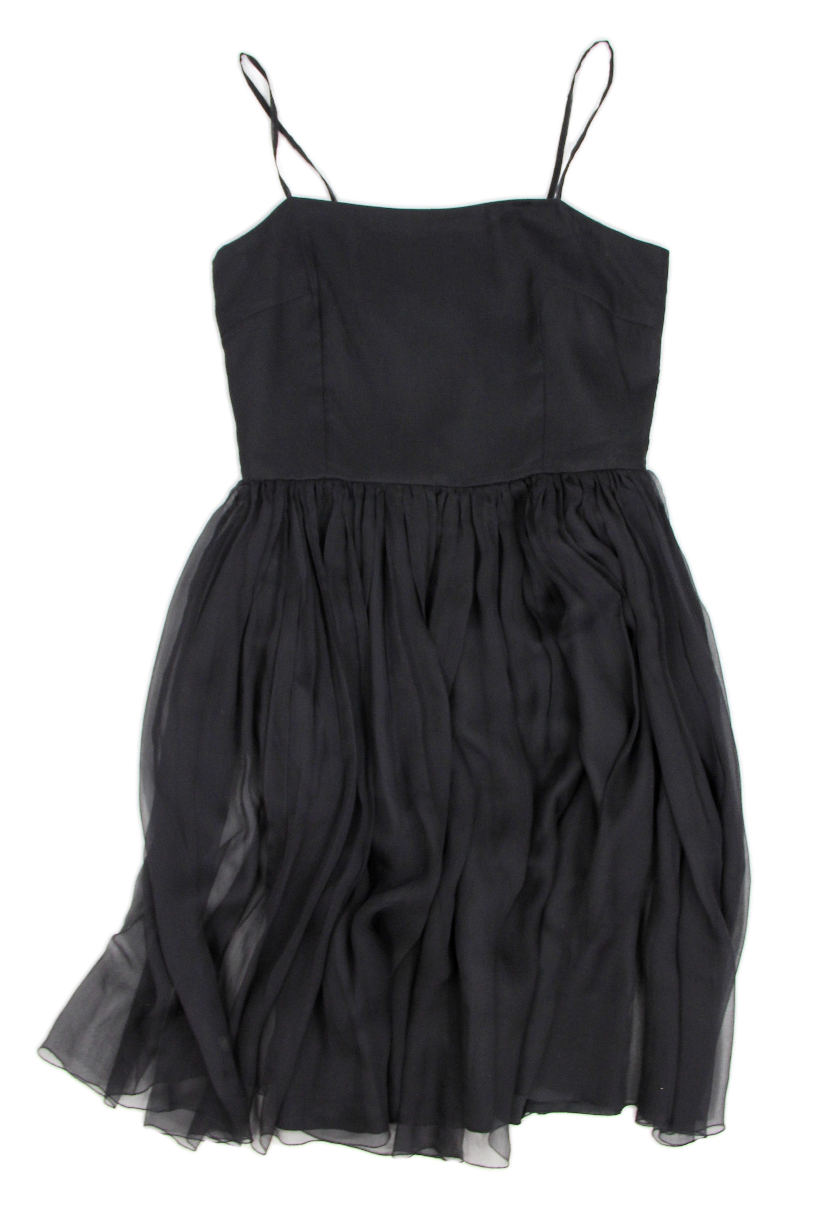 Marimekko by Samu-Jussi Koski Black Silk Cocktail Dress, SIZE S