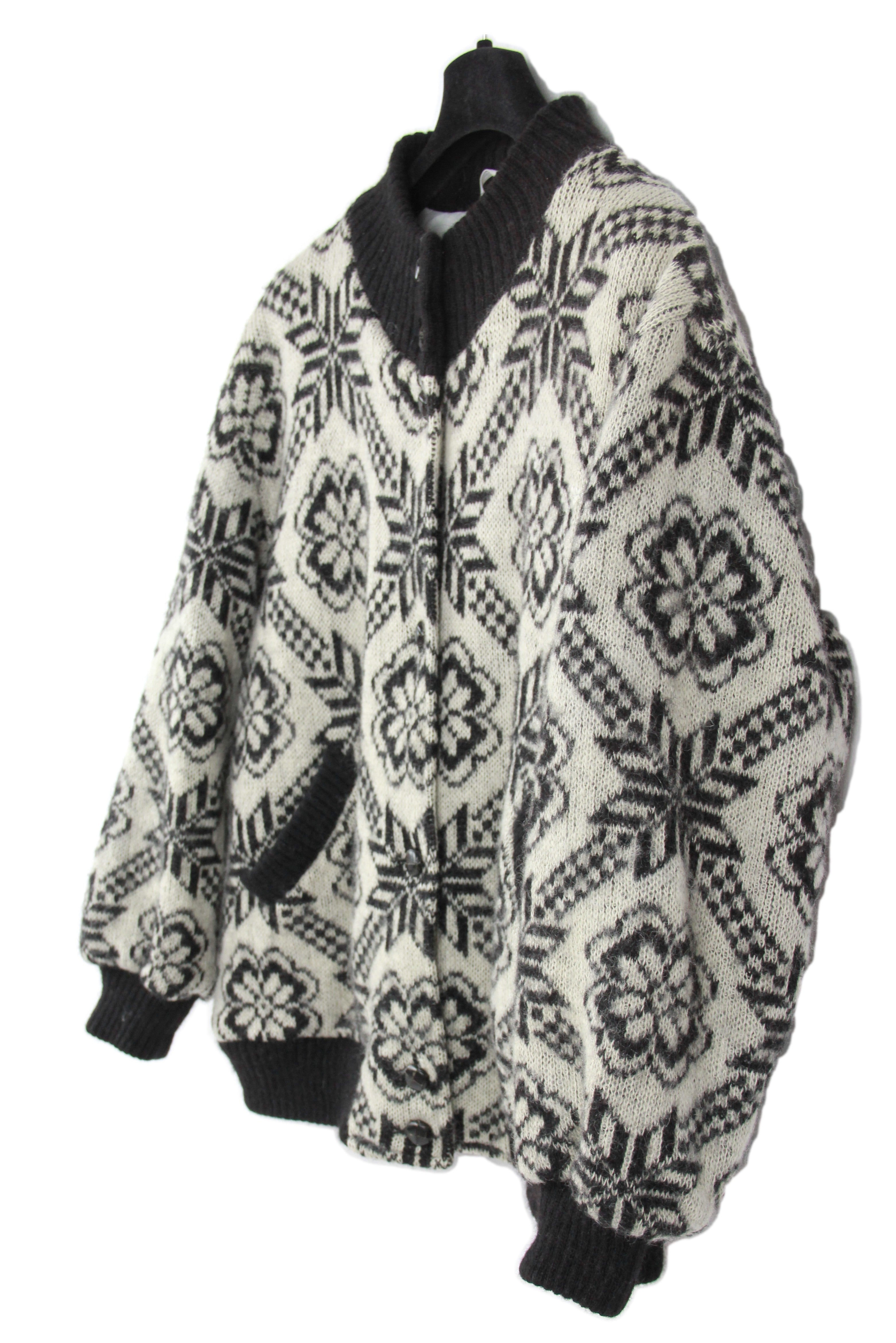 ALAFOSS Icelandic Chunky Wool Fully Lined Cardigan, L