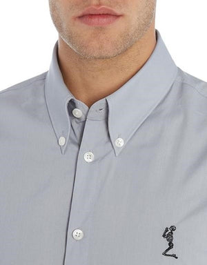 RELIGION Casual Men's Shirt Grey (Grey Chambray), S - secondfirst